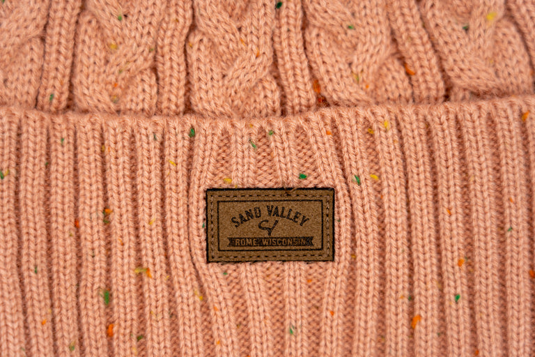 The Mosaic Ladies Cable Knit Cap