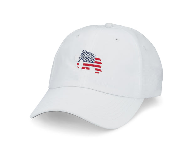 Imperial - White Adjustable Flag Hat