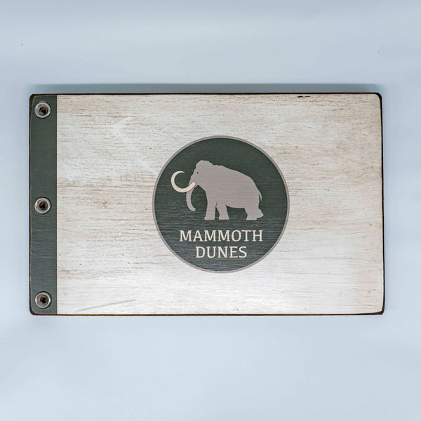 Mammoth Dunes Custom Wooden Pin Flag