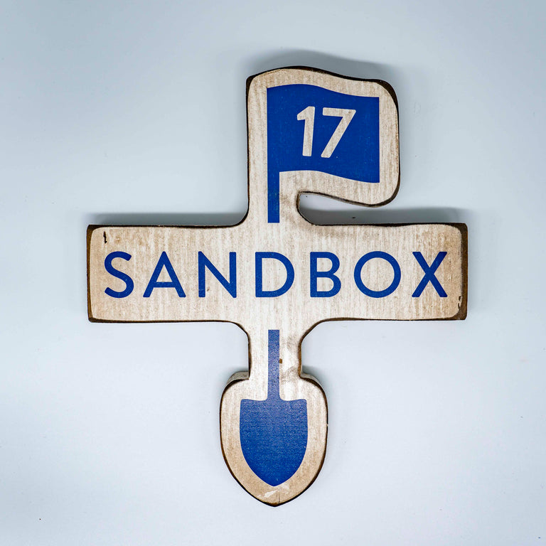 Sandbox Custom Cut Out Sign