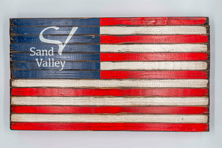Sand Valley Boardwalk Flag Sign