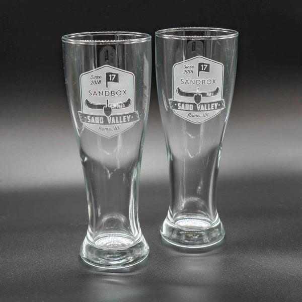 Sandbox Pilsner Glass Set of 2