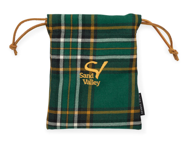 Seamus Golf Drawstring Pouch - Irish National Tartan