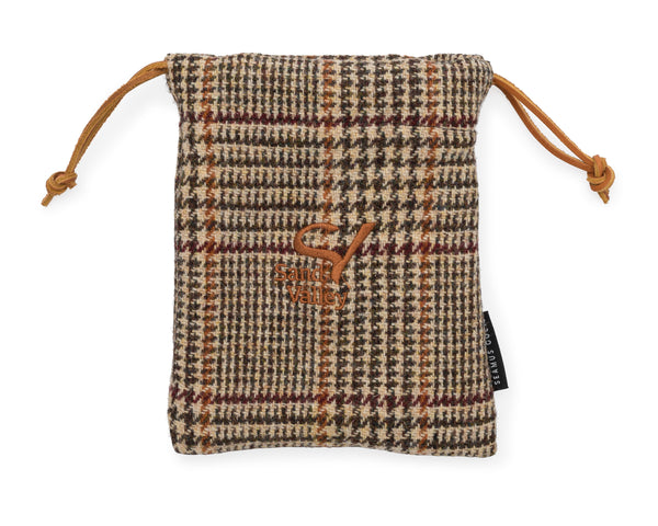 Seamus Golf Drawstring Valuables Pouch - Hunter's Glen Check