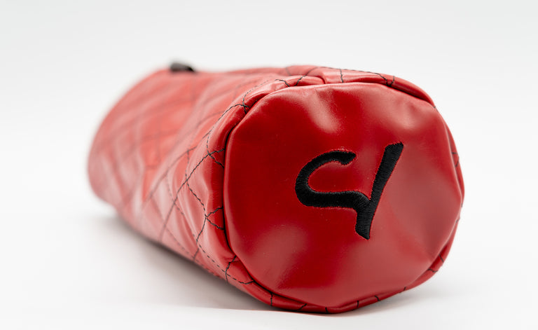 Seamus Golf Quilted Red Leather Driver Cover