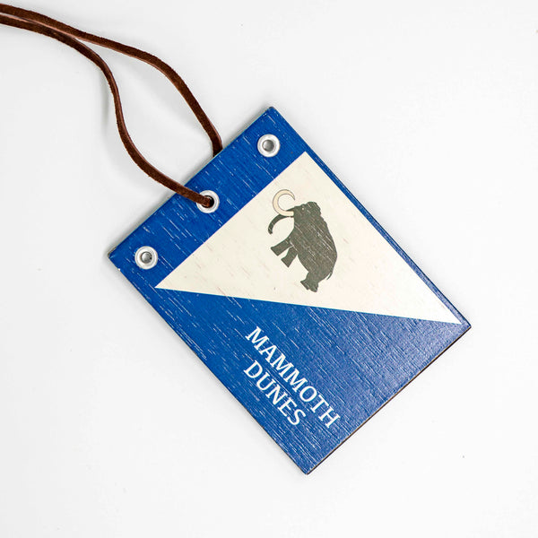 Mammoth Dunes Wooden Bag Tag