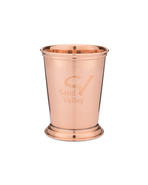 Sterling Cut Glass Copper Julep Cup