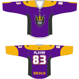 San Diego Seals YOUTH Replica Purple CUSTOM Jersey