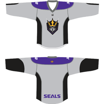 San Diego Seals YOUTH Gray Replica Blank Jersey