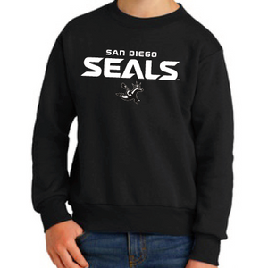 Port & Company Youth Fleece Black Crewneck Sweatshirt