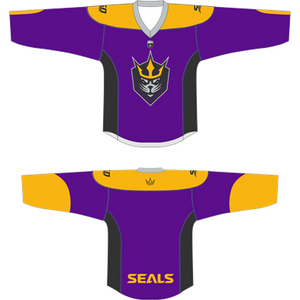 San Diego Seals Purple Replica Blank Jersey