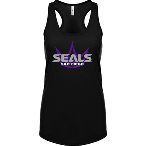 Next Level Ladies' Black Ideal Racerback Tank