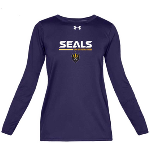 Under Armour Women's Purple Long Sleeve Locker Tee