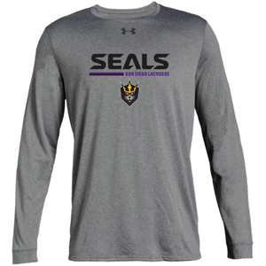 Under Armour Men's Long Sleeve Light Gray Locker Tee