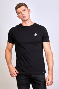 Wicked Rabbit Clothing - mens classic t-shirt, black rabbit logo t-shirt