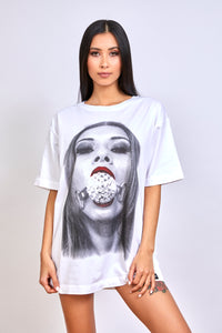 Wicked Rabbit Clothing, graphic t-shirt dress, fetish clothing