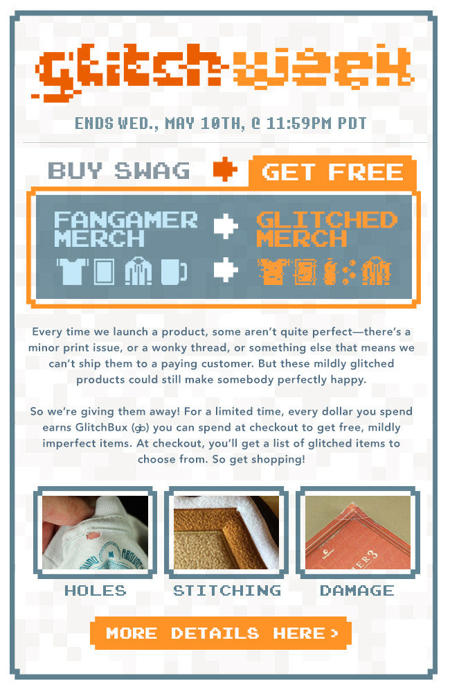 Fangamer Glitch Sale 2017