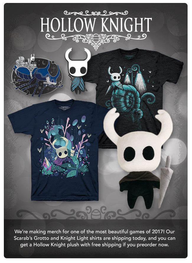 Hollow Knight Products Now at Fangamer.com