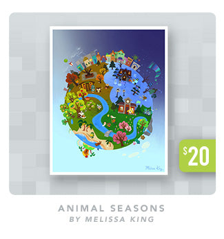 Animal Seasons Giclee Poster