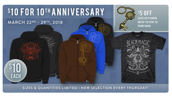 10 for 10 Sale at Fangamer.com