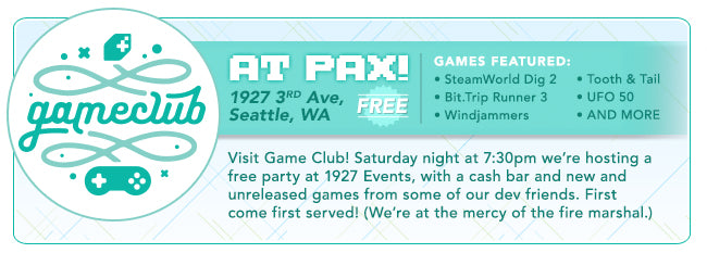 Fangamer Game Club at PAX West