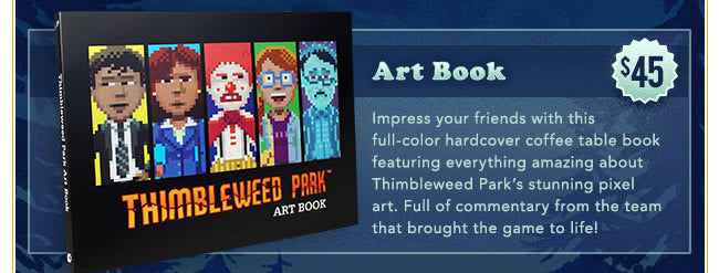 Thimbleweed Park Art Book at Fangamer.com
