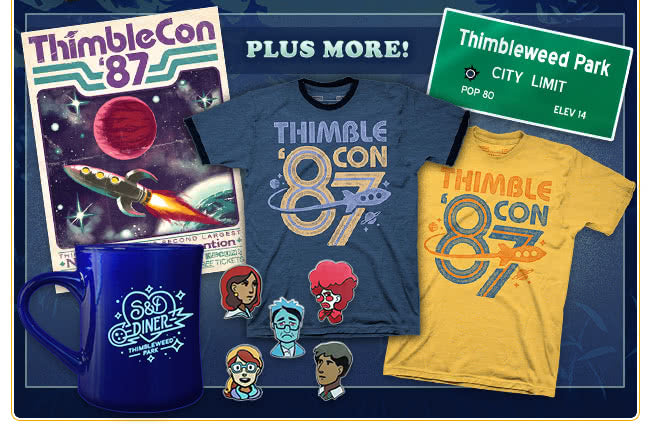 Thimbleweed Park Merch at Fangamer.com