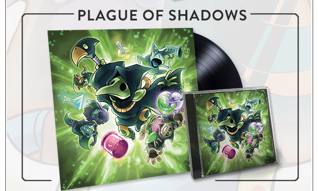 Shovel Knight Plague of Shadows Soundtrack Vinyl and CD at Fangamer.com