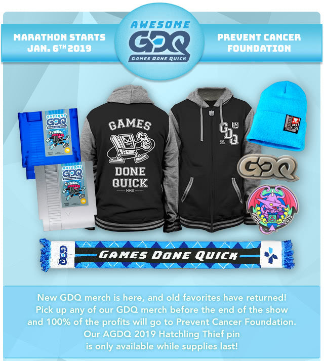 GDQ Merch at Fangamer.com