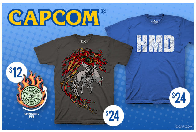 New Okami and Viewtiful Joe merch