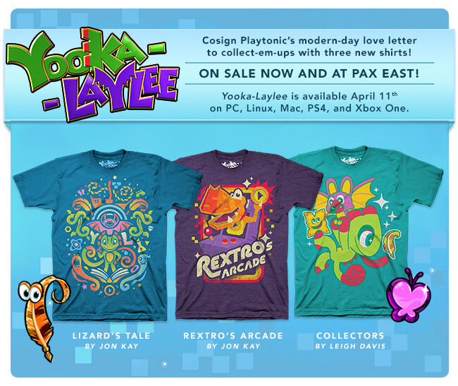 New Yooka-Laylee Merchandise at Fangamer