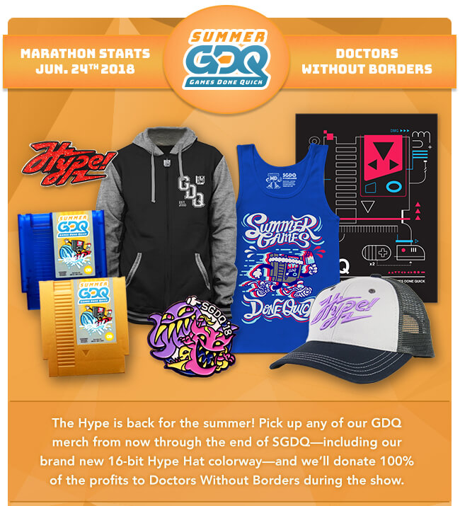 Summer Games Done Quick Merchandise at Fangamer.com