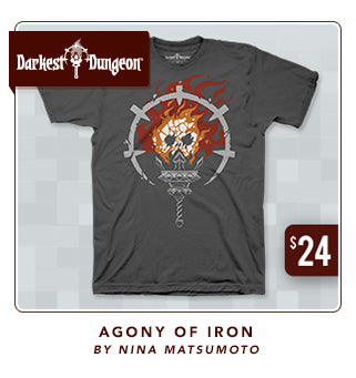 Darkest Dungeon Agony of Iron Shirt at Fangamer.com
