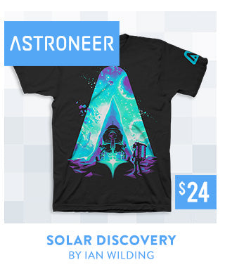 New Astroneer Solar Discovery Shirt at Fangamer.com