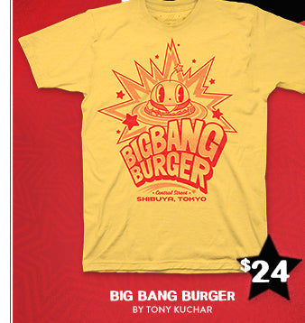 New Persona 5 Big Bang Burger Shirt at Fangamer.com