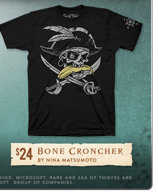 New Sea of Thieves Bone Croncher Shirt at Fangamer.com