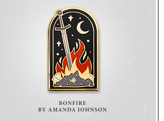 Dark Souls Bonfire Pin at Fangamer.com