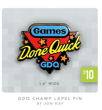 Games Done Quick Champ Lapel Pin at Fangamer.com