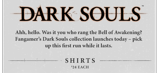 New Dark Souls Collection at Fangamer.com