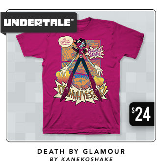 Undertale Death by Glamour Shirt Now Restocked at Fangamer.com