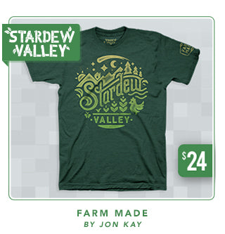 Stardew Valley Farm Made Shirt at Fangamer.com