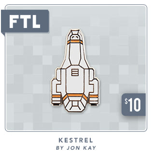 New FTL Kestrel Ship Pin at Fangamer.com