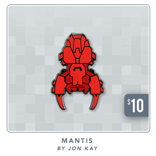 New FTL Mantis Ship Pin at Fangamer.com
