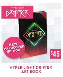 Hyper Light Drifter Hardcover Art Book Fangamer.com