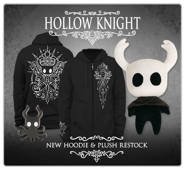 New Hollow Knight Hoodie and Plush Restock at Fangamer.com