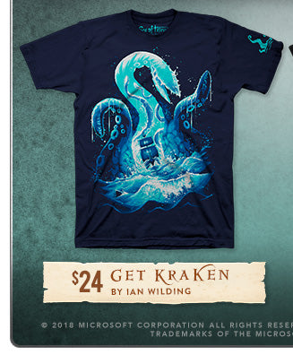 New Sea of Thieves Get Kraken Shirt at Fangamer.com