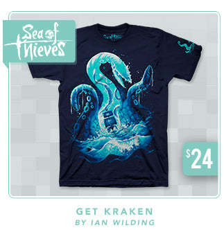 Sea of Thieves Get Kraken Shirt Now Restocked at Fangamer.com