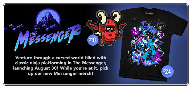 New The Messenger Merch at Fangamer.com