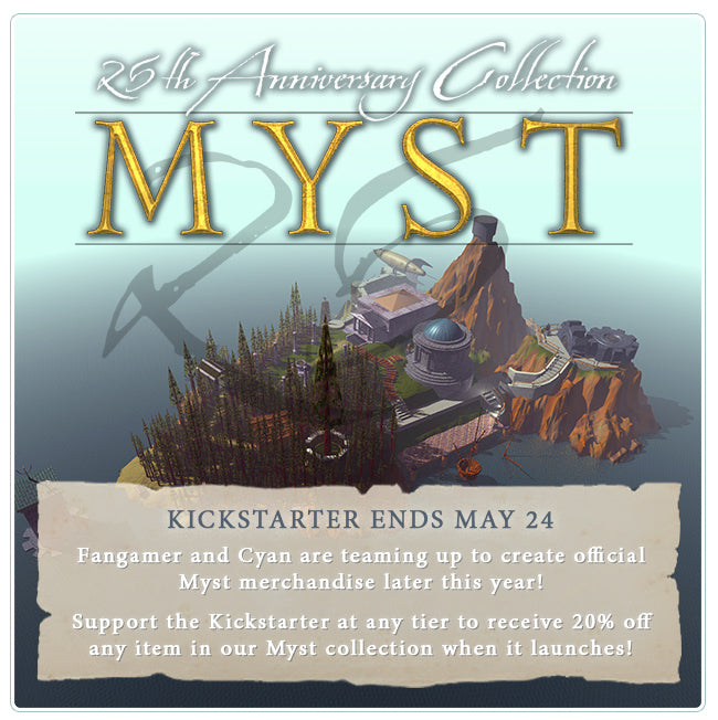 Myst 25th Anniversary Collection Merchandise Later this Year at Fangamer.com