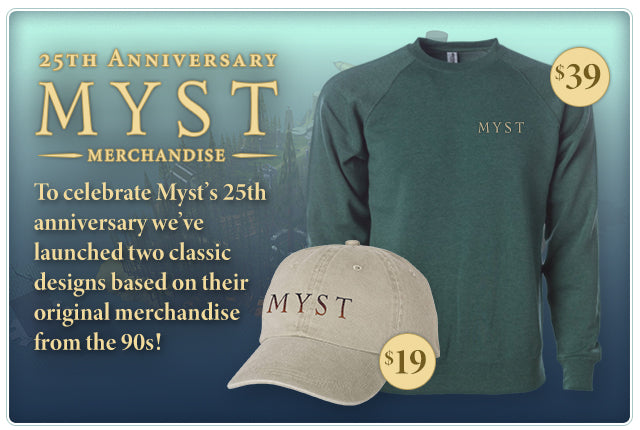 New Myst Merch at Fangamer.com